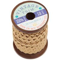 Riley Blake Designs - Lori Holt of Bee in my Bonnet - Small Vintage Trim - Nutmeg - 1/4 inch x 12 Yards