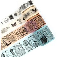 Prima Marketing - Prima Traveler's Journal Vintage Decorative Washi Tape - Set of 4