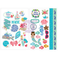Prima Marketing - Julie Nutting Cardstock Stickers - Mermaid Kisses