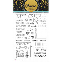 Studio Light Planner Journal A5 Stamp - Planner Stamps - Days of the Week