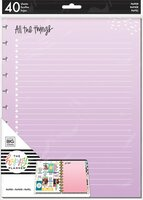 The Happy Planner - Me and My Big Ideas - Big Refill Note Paper - Full Sheet - Colored (Checklist)