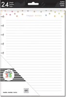 The Happy Planner - Me and My Big Ideas - Classic Refill Note Paper - Full Sheet - Foil Happy Notes (Lined, Checklist, Dot Grid)