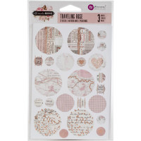 Prima Marketing - Amelia Rose Circle Stickers - Traveling Rose with Rose Gold Foil