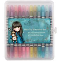 Santoro Watercolour Dual-Tip Pens - Set of 12 - Brights