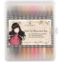 Santoro Watercolour Dual-Tip Pens - Set of 12 - Neutrals