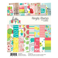 "Carpe Diem - Simple Stories - Double-Sided Paper Pad 6"" x 8"" - Hello Summer"