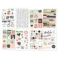 Carpe Diem - Simple Stories - Bloom - Stickers - 8 Sheets