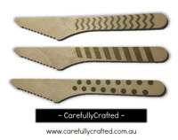 10 Wood Cutlery Knifes - Gold - Polka Dot, Stripe, Chevron #WK14
