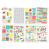 Carpe Diem - Simple Stories - Hello Summer - Stickers - 8 Sheets