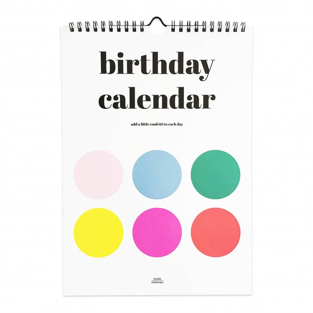Birthday Calendar.Studio Stationery Birthday Calendar Dots