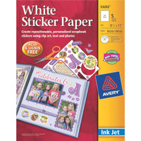 "Avery - Ink Jet Sticker Paper 8.5"" x 11"" - Matte White"