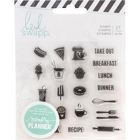 Heidi Swapp - Memory Planner Clear Stamps - Fresh Start - Food