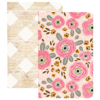 Webster's Pages - Traveler's Notebooks - Set of 2 - Flower & Wood - Pocket
