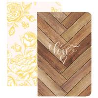 Webster's Pages - Traveler's Notebooks - Set of 2 - Love & Flowers - Pocket