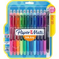 Paper Mate InkJoy Gel Pens 0.7mm - Set of 12