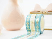 The Pink Room Co - CHARMING in Teal Washi Tape Collection - The Pink Room Co Original
