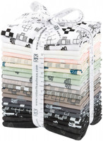 Robert Kaufman Fabric Precuts - Blueberry Park Karen Lewis Collection - Neutral - Fat Quarter Bundle