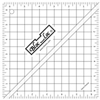 "Bloc Loc - 6.5"" Half-Square Triangle Square Up Ruler"