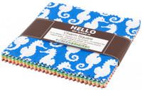 Robert Kaufman Fabric Precuts - 5 inch Squares - Reef by Elizabeth Hartman