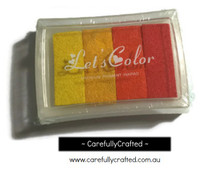 Stamp Ink Pad - Yellow and Orange Shades #IP-5
