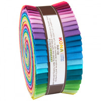 Robert Kaufman Fabric Precuts - Jelly Roll - Kona 2014 New Solids