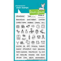 Lawn Fawn Clear Stamps - Plan On It- Appointments