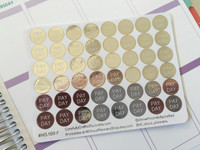 Pay Day - Silver Foil Planner Stickers