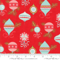 Moda Fabric - Vintage Holiday - Bonnie & Camille - Red #55160  11