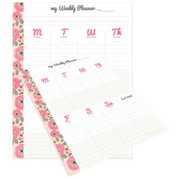 "Webster Pages - My Happy Place Composition Planner Pad - Weekly 7.5"" x 9.75"""