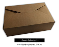 10 Kraft Paper Gift Box - 19cm x 12.5cm x 6cm -  #B10
