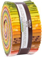Robert Kaufman Fabrics - Jelly Roll - Terrarium by Elizabeth Hartman Collection - Warm