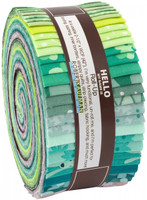 Robert Kaufman Fabrics - Jelly Roll - Terrarium by Elizabeth Hartman Collection - Cool