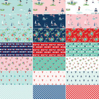 Riley Blake Designs - Fat Quarter Bundle - Seaside by Tasha Noel