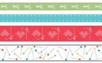 Lori Holt - Washi Tape - Set of 4 - Sewing