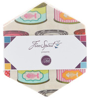 Free Spirit Fabric - Hexagons - Tabby Road by Tula Pink