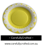 16 Paper Plates - Yellow - Flower #PP5
