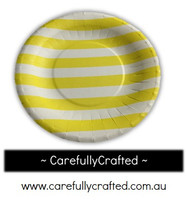16 Paper Plates - Yellow - Stripe #PP8