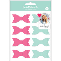American Crafts - Dear Lizzy Soft Plastic Bows - Set of 8