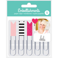 American Crafts - Heidi Swapp Paper Clip Flags - Set of 5 - Pink