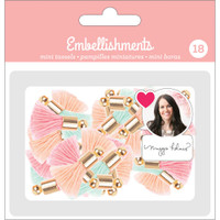 American Crafts - Maggie Holmes Mini Tassels - Set of 18