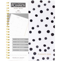 "American Crafts - 2018 Weekly/Monthly Planner 8.5"" x 11"" - Black & White"