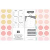 "American Crafts - 2018 Weekly/Monthly Planner 8.5"" x 11"" - Multi-Color Polka Dots with Silver Foil"