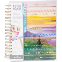 "OUTDATED - Paper House - Spiral Bound Planner Dated 7.5"" x 8.5"" - Live Bold"