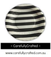 16 Paper Plates - Black - Stripe #PP11