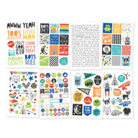 Carpe Diem - Simple Stories - Lil' Dude Stickers - 8 Sheets
