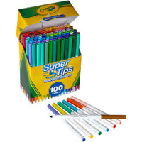 Crayola Super Tips Washable Markers - Set of 100
