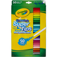 Crayola Super Tips Washable Markers - Set of 50