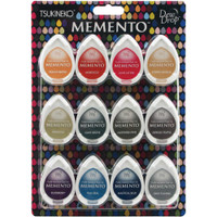Memento Dew Drop Dye Ink Pads - Set of 12 - Snow Cones