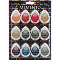 Memento Dew Drop Dye Ink Pads - Set of 12 - Snow Cones