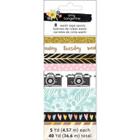 American Crafts - Amy Tangerine - Shine On Washi Tape - Set of 8